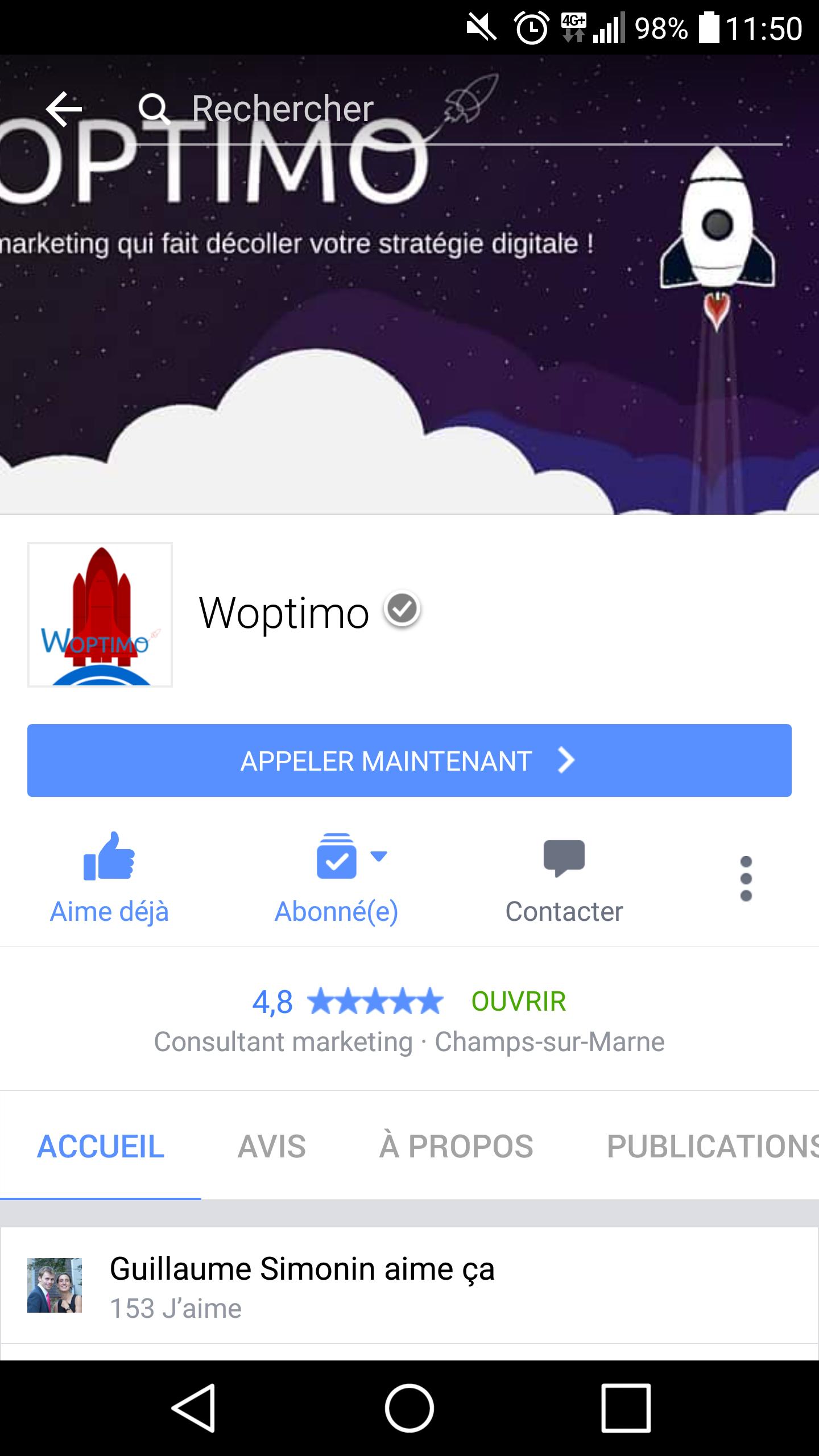 Optimisation page Facebook et Google+ mobile
