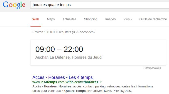 horaires quatre temps Recherche Google