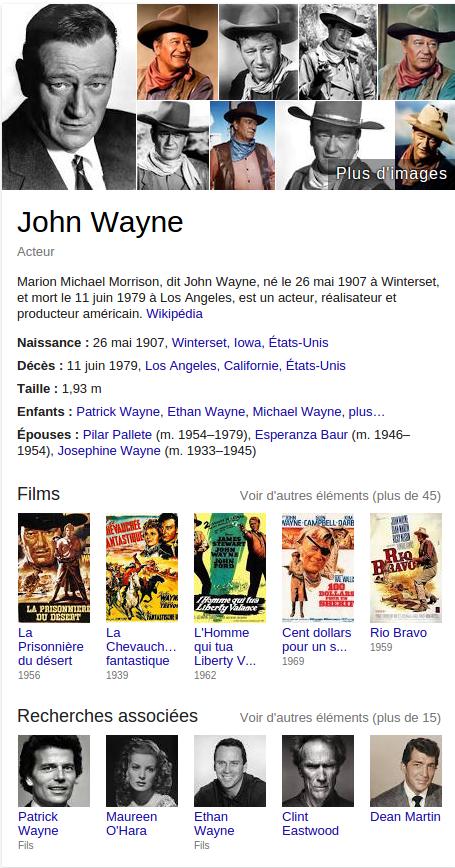 john wayne Recherche Google