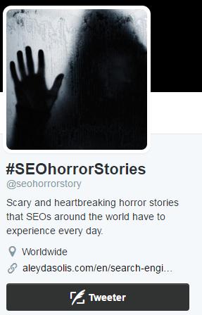 2016-04-12-#SEOhorrorStories- Twitter